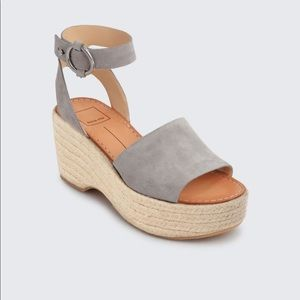 Dolce Vita lesly espadrille wedge in smoke